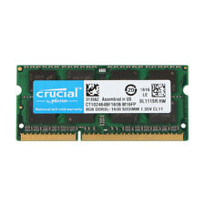 Crucial 8GB DDR3 1600MHz PC3L-12800 1600 204pin 1.35V Sodimm Laptop Memory RAM #