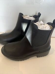 Raid Wide Fit Radar Black Chunky Chelsea Boots Uk 5