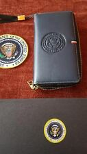 LADIES WALLET WHITE HOUSE PRESIDENTIAL SEAL HIGH QUALITY SYNTHETIC LEATHER BLUE