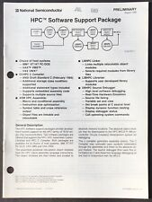 National Semiconductor - Hpc Controller Software Support Package Data Sheet 1988