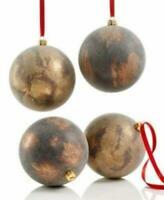 Holiday Lane 4-Pc. Antique-Finish Ball Ornament Set NEW