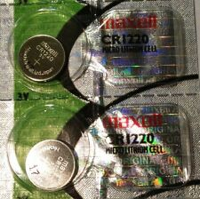 CR 1220 MAXELL LITHIUM BATTERIES (2 piece) 3V Watch 1220 New Authorized Seller