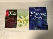 3 Shrub Gardening Books Ornamental Shrubs Making a Shrub Garden Gardener's Guide