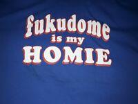 EUC Fukudome Is My Homie #1 Chicago Cubs T Shirt Blue Adult sz Large L Baseball