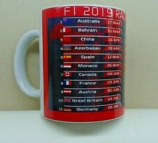 F1 Formula 1- Race Calendar 2019 Fixtures Printed Mug As Is Or Personalised Gift