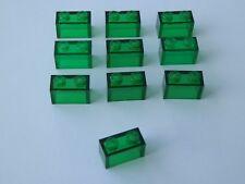 Lego 3065 # 10x Basic Stein 1x2 in transparent grün 4553 10255