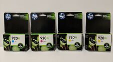 2015/16 Genuine HP 920XL 4 Ink Cartridges Cyan Magenta Yellow 3-pack + 1 Yellow