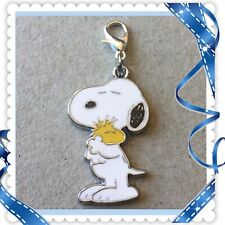 ❤️ Peanuts Snoopy Woodstock ❤️ Zipper Pull Charm with Lobster Clasp / New #66