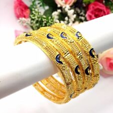 Indian 22ct Gold Plated Bangles Size:2.10 Bollywood Bridal Wedding Jewellery