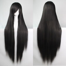 100CM Fashion Full Wig Long Straight Wig Cosplay Party Costume Anime Hair