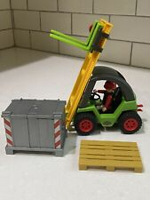 PLAYMOBIL Forklift Set #3003 Working Lift ~ Not complete