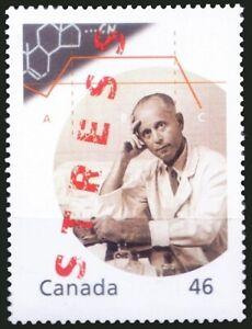 Canada 2000 MNH, Hans Selye, Endocrinologist, Documented Stress, Medicine