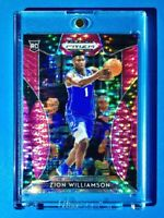 Zion Williamson PINK REFRACTOR ROOKIE PANINI PRIZM INSERT DRAFT PICKS RC #64 MT