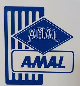 "Amal Dellorto Carburator 3.5"" x 4""  lambretta vespa Camper Van car  Decal bike"