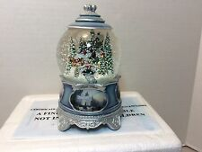 THOMAS KINKADE SONGS OF THE SEASON SNOW GLOBE JINGLE BELLS WITH COA