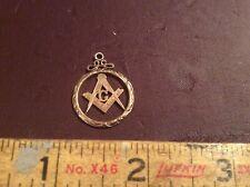 Masonic Charms/Pendants/Watch Fobs. (2) Vintage Free Mason