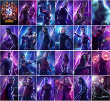 24 Avengers: Infinity War Movie 2018 Mirror Surface Postcard Promo Card Poster F