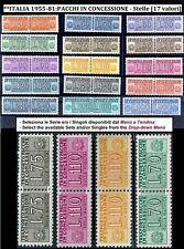 ** Italia 1955 1981: Pacchi in Concessione Stelle [17 valori ] Serie e Singoli