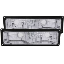 ANZO Euro Parking Lights Black for 1988-1998 Chevrolet C1500