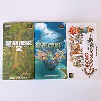 Seiken Densetsu 2 3 Chrono Trigger Nintendo Super Famicom SFC SNES Japan Game