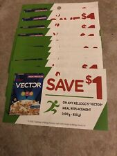 10 Coupons X Save $1 on any Kellogs Vector Meal Replacement (400g-850g)