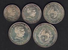 Uruguay. 1968 - 5 piece Pattern Proof Set.. 1,5,10,20 & 50 Pesos