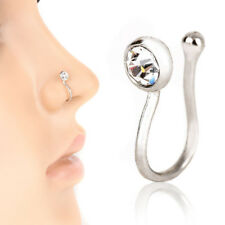 Fashion No-piercing Ear Lip Hoop Ring Women Chic Fake Nose Clip Jewelry Pretty