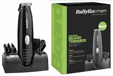 BaByliss 7107U Beard & Moustache Trimmer Battery Operated Clipper -