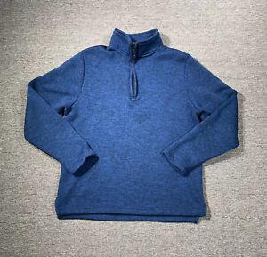 Beverly Hills Polo Club Navy Blue Men's XL 1/4 Zip Fleece Polyester Sweater