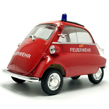 1:18 1955 BMW Isetta Fire Engine Truck Vehicle Model Car Diecast Collection Red