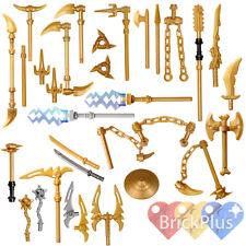 LEGO Ninjago Set/26 Golden Weapons - Spinjitzu weapons Shuriken Dragon Sword