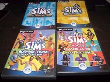 LOT of 4 Sims Expansion Pack Version Francais French Expansion Game Packs