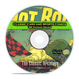 Classic Car Comics, Sports Comics, 86 Vintage Issues, Golden Age Comics DVD D17