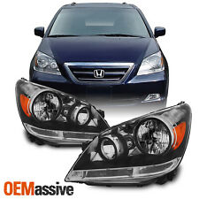Fit 2005-2007 Honda Odyssey Headlights Headlamps Left+Right Replacement 05 06 07