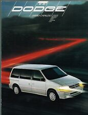 1991 Dodge Brochure / Catalog: Grand CARAVAN,SHADOW,SPIRIT,DYNASTY,MONACO,COLT