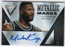 2013-14 Panini Titanium Metallic Marks Michael Cage Auto Autograph #086/299