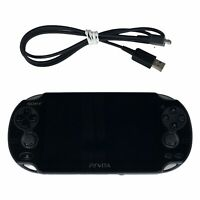 Sony PlayStation Vita Crystal Black Gaming Handheld System PCH-1101 w/Charger