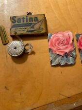 Vintage Stanhome Sewing Needle Books.Western Germany Measure Tape Satins P70