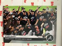 2020 TOPPS NOW NLDS CARD ATLANTA BRAVES #390 ADVANCE TO NLCS AFTER SWEEP
