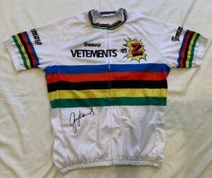 Greg LeMond signed 1990 World Champion cycling jersey Z-Tomasso Tour de France