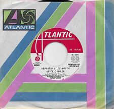 ALICE COOPER  Department Of Youth  rare promo 45 from 1975