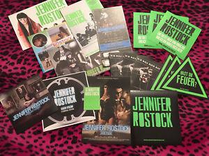 Jennifer Rostock 14x Promo Sticker 4x Karten Ticket Release Ins Offene Messer