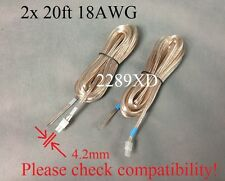 2x 20ft speaker wires made for Samsung Swa-3000/4100/5000/6000 Wireless Receiver
