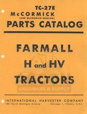 Farmall H Amp Hv Tractor Parts Catalog Manual