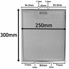 Silver Grease Filter Fr INDESIT HOTPOINT Cooker Hood Metal Mesh Vent 300 x 250mm