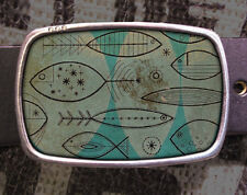 Retro Fish Vintage Inspired Art Gift Belt Buckle