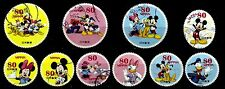 JAPAN 2012 DISNEY CHARACTERS, MICKEY, 80 YEN COMPLETE SET OF 10 STAMPS FINE USED