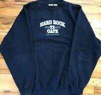 Hard Rock 71 Cafe Orlando Love All Blue Crewneck Pullover Sweatshirt Men's sz L