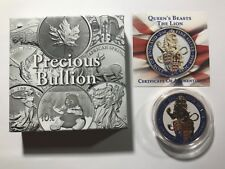 UK 2016 £5 Pounds Queen's Beasts - The Lion 2oz Proof Silver Coin