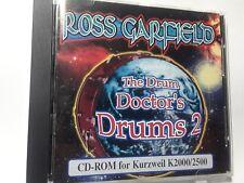 KURZWEIL Ross Garfield ~ The Drum Doctor Drums 2 ~ Original Cd-Rom ~ K2000/K2500